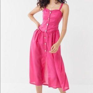 NEW Tach clothing midi dress tie back